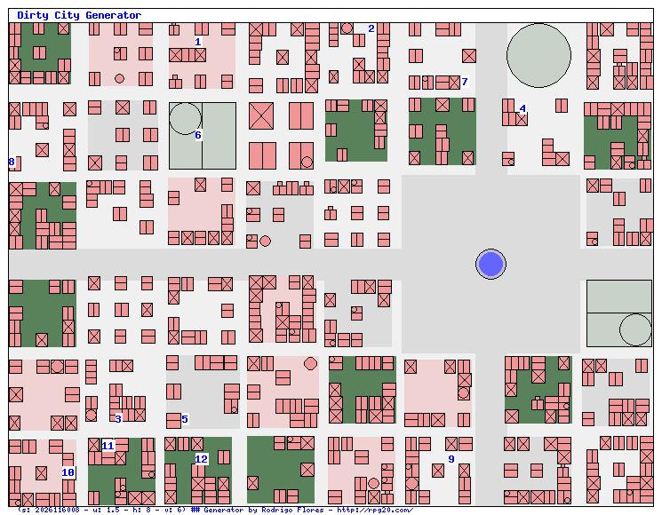 simple city map